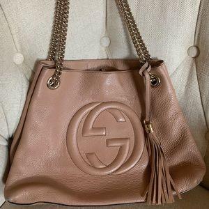 Gucci Bags - Gucci Soho Chain Strap Handbag Leather Tote